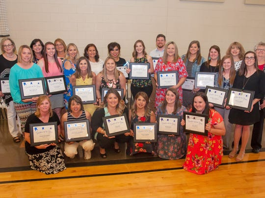 Recipients of San Angelo ISD's 2018 Teacher of the Year awards.