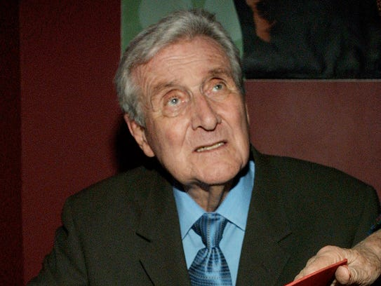 Actor Patrick Macnee during booksigning of his memoirs