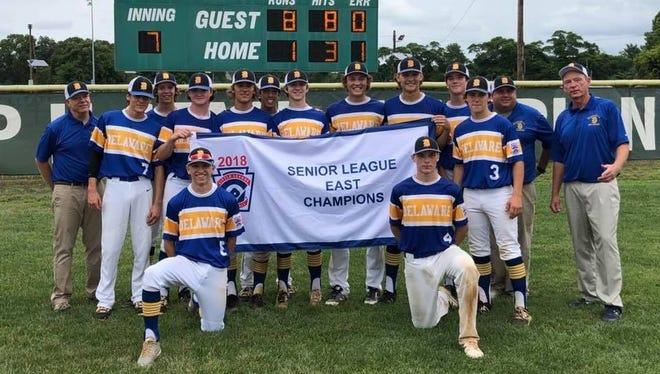 Naamans Senior League baseball team after winning East Regional title.