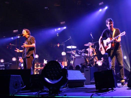 Lead singer Eddie Vedder and guitarist Stone Gossard