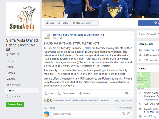 Sierra Vista Unified School District Facebook Page