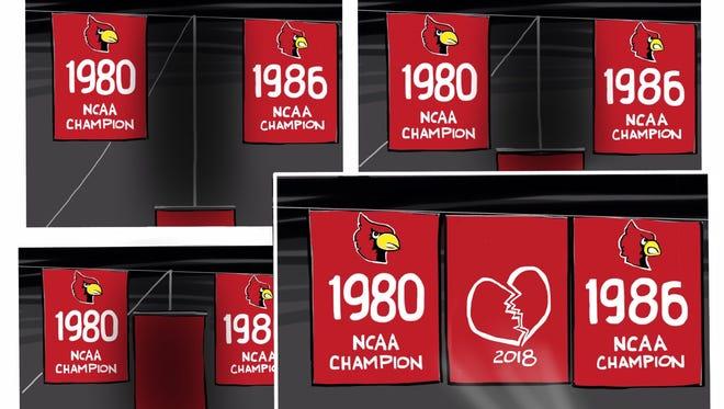 Louisville's championship banner.
