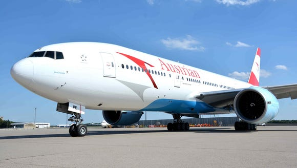 A file photo of an Austrian Airlines Boeing 777 aircraft.