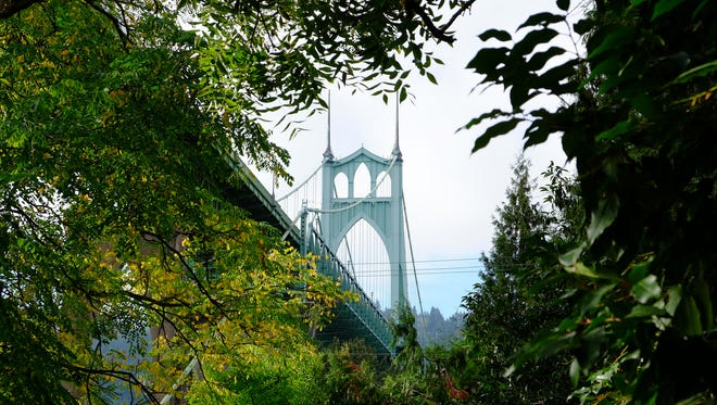 St. Johns bridge in Portland.