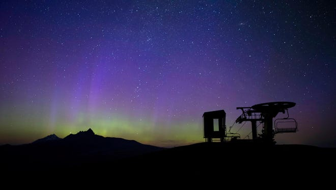 This photo showing the Northern Lights was taken by Pete Alport was taken from Hoodoo Ski Area on Monday night.