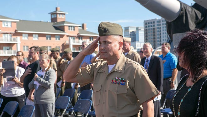 Maj. David P. Kraklow, a native of Stevens Point, retired Oct. 30 at a ceremony aboard the USS Wisconsin in Norfolk, Va.