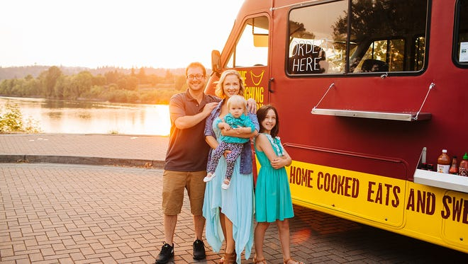 Sarah Carpenter, owner of The Laughing Lunchbox, is behind an effort to rally Salem-area food trucks and others together to help feed the needy on Thanksgiving Day in downtown Salem.