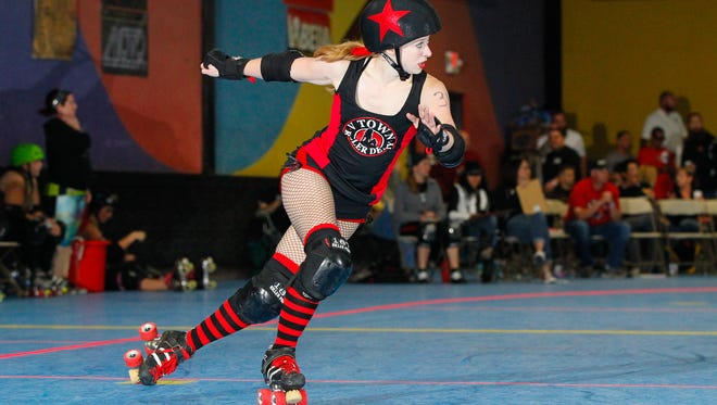 Laura Anderson (ActiFist #314) is a member of the V Town Derby Dames. The first home bout of the year for V Town Roller Derby will be on Saturday, March 5th, at Roller Towne in Visalia.