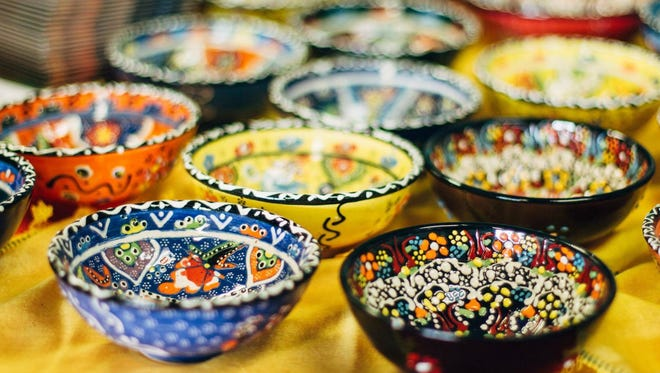 A beautiful Turkish glass plate will be raffled at the Turkish Festival Saturday.
