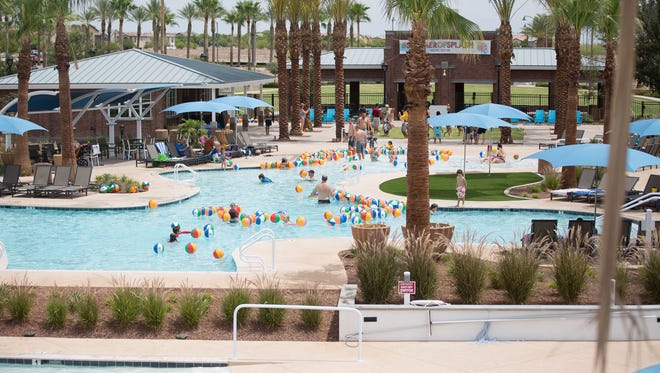 The new pool complex opened at Verrado in Buckeye last summer.