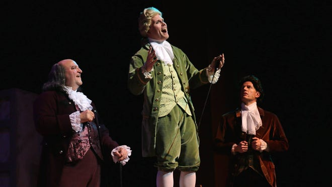 """Performers for City Circle Acting Company's production of """"1776"""" at Coralville Center for the Performing Arts."""