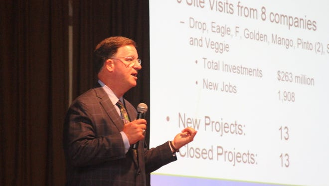 GRE President Mark Peterson speaks at the 2015 GRE International Trade Conference.