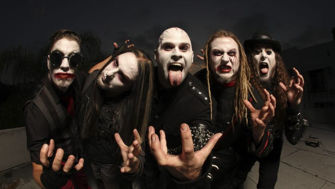 California shock-rockers Sunflower Dead, led by frontman Michael Del Pizzo, center, is set to perform at 7 p.m. Saturday at Speaking Rock Entertainment Center.