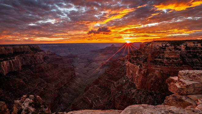 Sunsets are amazing at the Grand Canyon National Park in Arizona. Randy Langstraat captured this pic from Cape Royal -- a point that provides a panorama up, down, and across the canyon. With seemingly unlimited vistas to the east and west, it is popular for both sunrise and sunset. Cape Royal is on the North Rim of the park, which will open for summer in May.