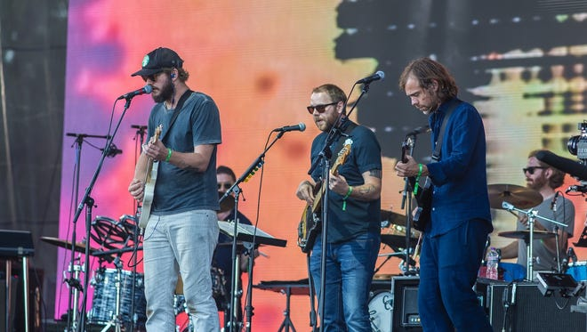 Eaux Claires, the Wisconsin music festival co-created by Bon Iver's Justin Vernon (with hat) and the National's Aaron Dessner (furthest right with guitar) will return for its third installment June 16 and 17.