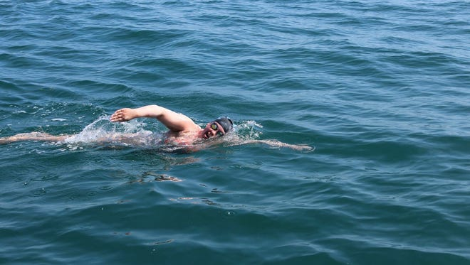 Cherry Hill native Katie Scott swims the English Channel.