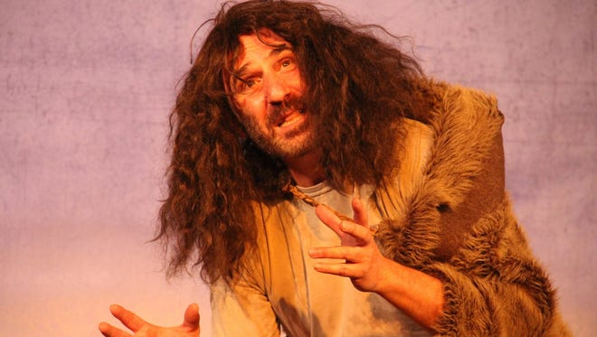 """Alan Waserman as Caliban in """"The Tempest,"""" presented by the California Shakespeare Company at the Elite Theatre in Oxnard."""