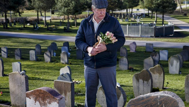 "In ""A Man Called Ove,"" the title character (Rolf Lassgard) regularly visits the  grave of his late wife."