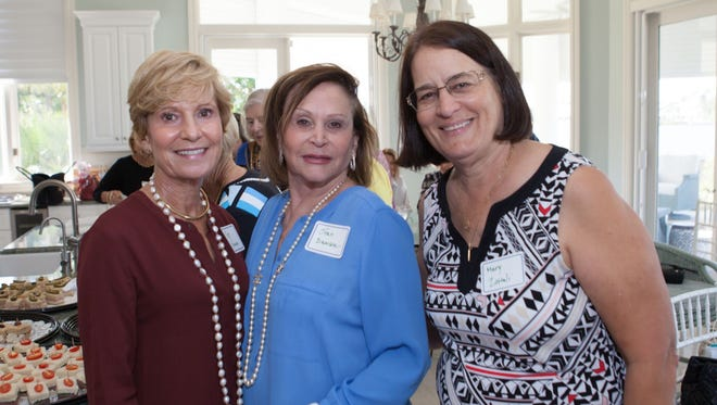 "Pat Noonan, Joan Damson and Mary Zottoli attend Hibiscus Children's Center's annual ""Bring a Friend"" Luncheon."