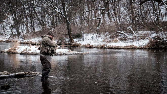 A number of streams and rivers around River Falls are spring-fed so it's possible to fly fish year-round.