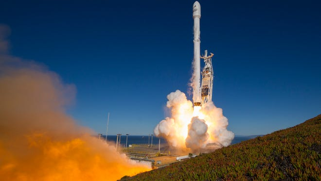 On Jan. 14, 2017, a SpaceX Falcon 9 rocket launched 10 Iridium NEXT satellites from Vandenberg Air Force Base in California. The first stage from that mission will be reused for the launch of BulgariaSat-1 from Kennedy Space Center.