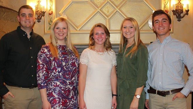 The newly elected officers of the Collegiate Farm Bureau at UW-Madison's newly elected 2017-18 officer team. Photo left to right: Connor Willems, Sara Griswold, Emily Matzke, Jessica Wendt, Jordan Gaal
