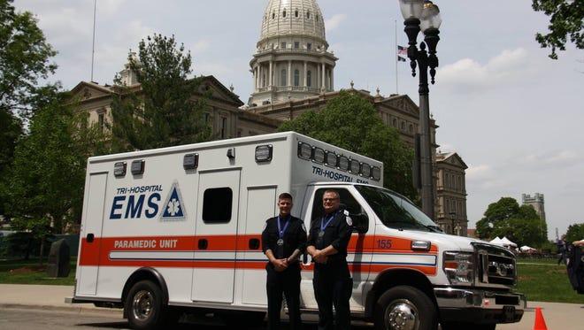 Paramedics Jon Marc Chandler and Richard Leverenz each received a Star of Life award.