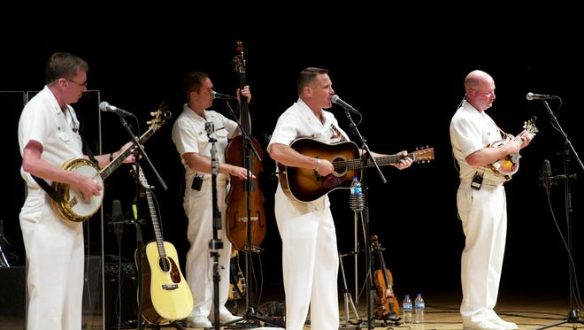 Country Current, the U.S. Navy Band's country-bluegrass ensemble, is headed to Asheville this month.
