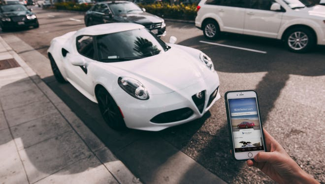 Turo allows car owners to defray the cost of maintenance and financing by renting out their rides, like this Alfa Romeo sports car.