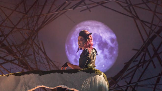 """Sara Clark is Puck in Cincinnati Shakespeare Company's production of """"A Midsummer Night's Dream,"""" running through Sept. 30 in the new Otto M. Budig Theater, 1195 Elm Street in Over the Rhine."""
