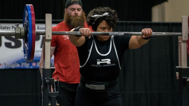 Persephonie Vigil, a powerlifting lady with Guam roots, competed in the Gulf Coast Beach Classic in Alabama on Sept. 9. She is the daughter of Vince Quidachay and Colleen Vigil and the granddaughter of Rose White Sablan of Mangilao, who now lives in Colorado Springs.