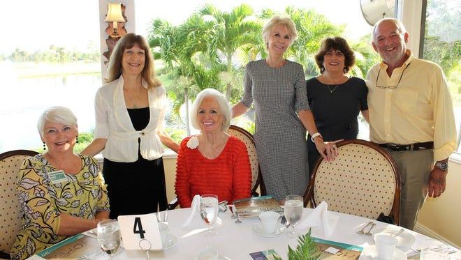 From left, Joanne Dougherty, Sunny Walker, Anne Schafer, Pat Schmader, Kelly McIntyre, and Arthur Einstein enjoyed the Hope Awards breakfast.