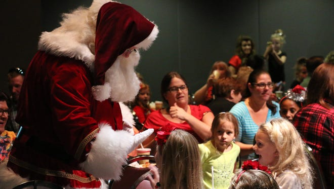 Breakfast with Santa is always a family favorite.
