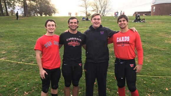 Former Wayne Valley teammates: Scancarella, Kearney,