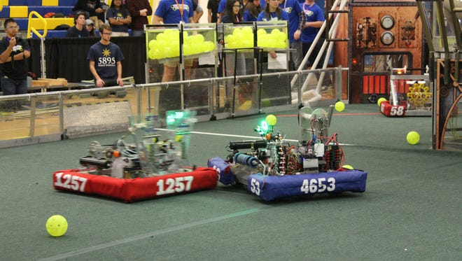 Forty robotics teams from the tri-state area descended upon North Brunswick on Nov. 11 to compete in FIRST STEAMWORKS for the final time before the start of the 2018 robotics season.