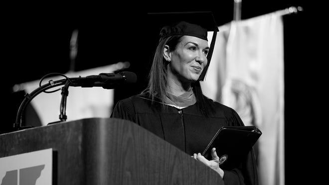 Meg Kinnard Hardee was the UT Martin fall commencement speaker.