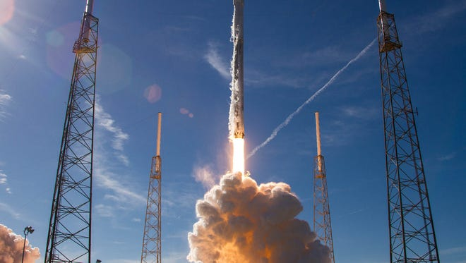 On Dec. 15, 2017, a SpaceX Falcon 9 rocket launched International Space Station supplies from Cape Canaveral Air Force Station. Another Falcon 9 rocket is targeting an 8 p.m. Friday liftoff with a classified U.S. government mission.
