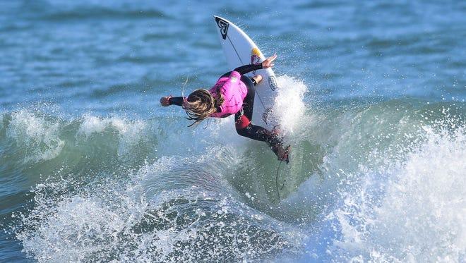 Melbourne Beach's Caroline Marks was the women's winner of the 2018 Florida Pro at Sebastian Inlet.