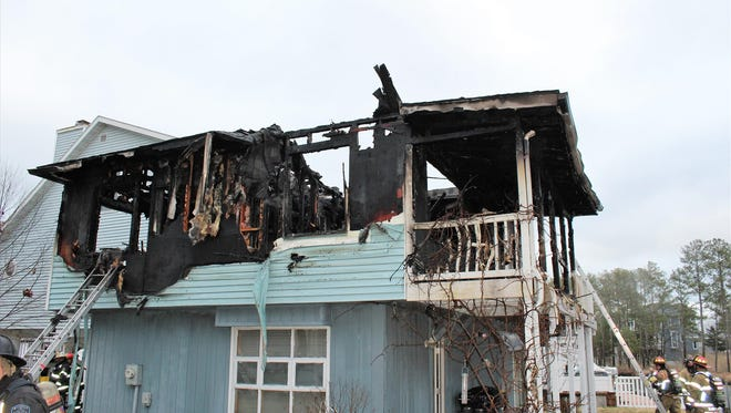 Fire caused extensive damage to a home on Arrowhead Drive in Ocean View on Wednesday, March 7.