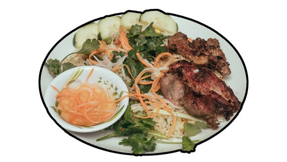 Pork plate, sold by the Phan Food, a new Vietnamese
