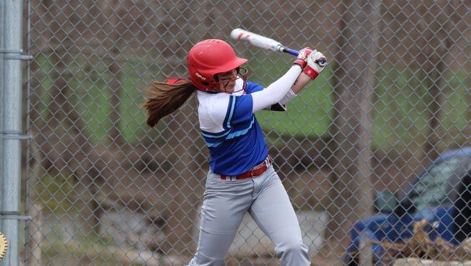 Senior second baseman Victoria Catalano, shown here earlier this season, had a third-inning grand slam in Fairport's 5-4 win over Rush-Henrietta in the Class AA softball semifinals.