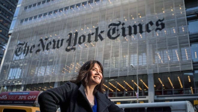 Jada Yuan outside the New York Times