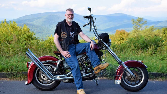 Tom Hood, originally from Platteville, is president of the Riders Motorcycle Club, in Boston.