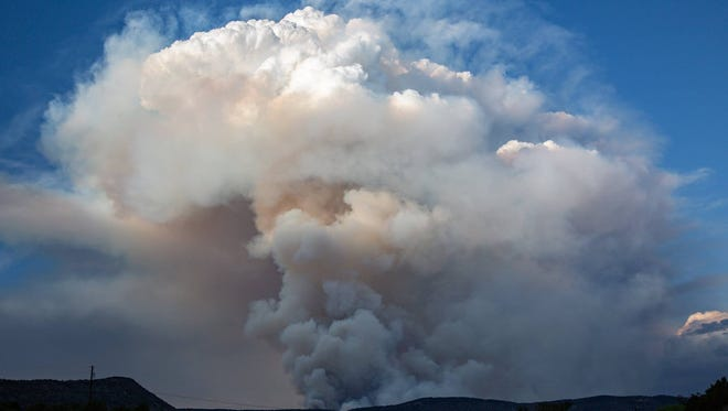 The Soldier Canyon Fire on the Mescalero Apache Reservation adjoining the village of Ruidoso grew more than 2,554 acres overnight.