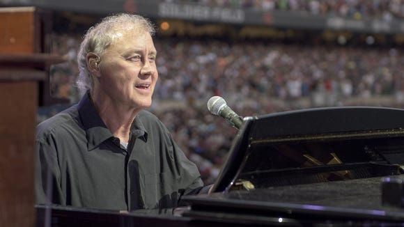 Bruce Hornsby leads his band, the Noisemakers, in concert