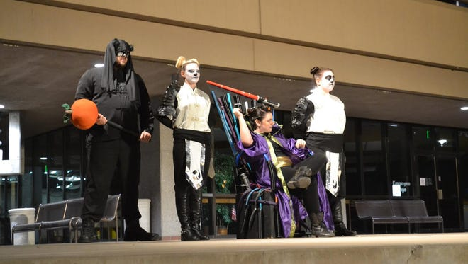 """The troupe of the Brelby Theatre perform """"Revenge of the Space Pandas,"""" a fun-for-all-ages show penned by famed playwright David Mamet."""