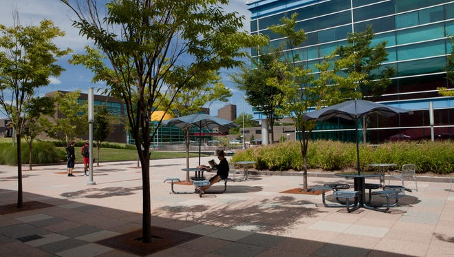 Newly renovated plaza at Purchase College – SUNY.