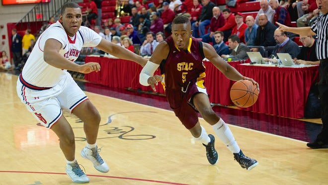Suffern's Alushula Odongo, right, seen against St. John's earlier this month, and his St. Thomas Aquinas teammates will play Division I powerhouse Gonzaga Saturday.
