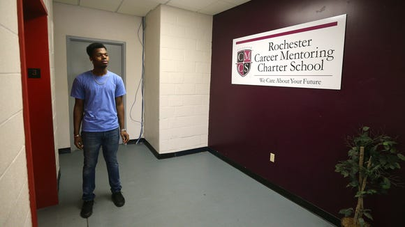 Jaquan Gordon is a senior at the Rochester Career Mentoring