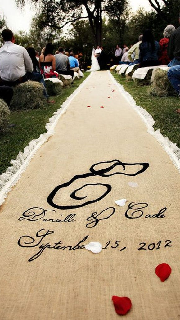 Fabric aisle runners can prevent a multitude of disasters!